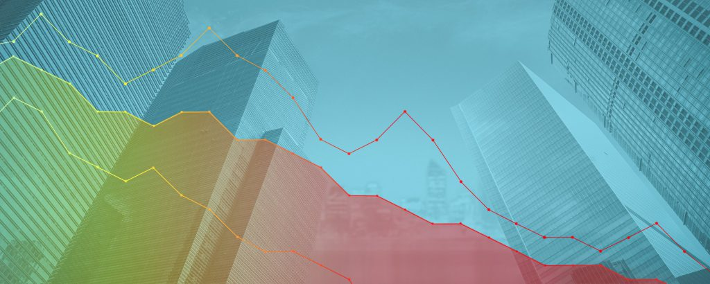 colorful-graph-lines-on-cityscape-background